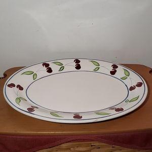 Dansk cherries pattern platter
